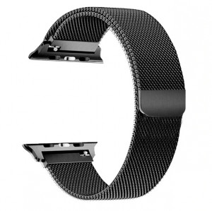 Pulseira Para Apple Watch Magnetico Milanese - Preto 42mm